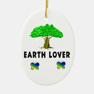 Amante del árbol de la tierra adorno de navidad