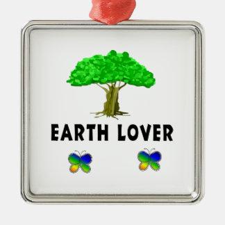 Amante del árbol de la tierra ornaments para arbol de navidad
