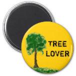 Amante del árbol iman para frigorífico
