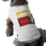 Amante del arte de la ropa del mascota de la caja  camisas de mascota