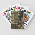 Amante del arte romano, 1870 (aceite en lona) cartas de juego