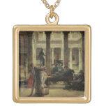 Amante del arte romano, 1870 (aceite en lona) colgante cuadrado
