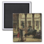 Amante del arte romano, 1870 (aceite en lona) imán cuadrado