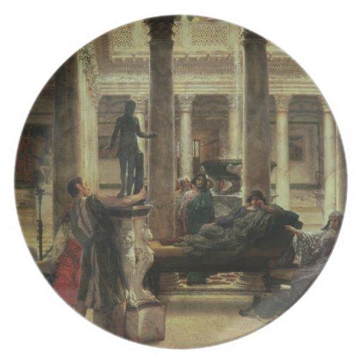 Amante del arte romano, 1870 (aceite en lona) platos