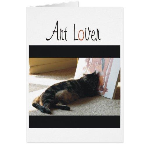 Amante del arte tarjeta de felicitación