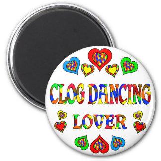 Amante del baile de estorbo imán redondo 5 cm