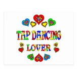 Amante del baile de golpecito tarjetas postales