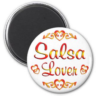 Amante del baile de la salsa imán redondo 5 cm