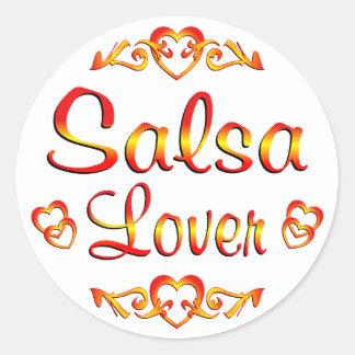 Amante del baile de la salsa pegatina redonda