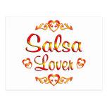 Amante del baile de la salsa tarjetas postales