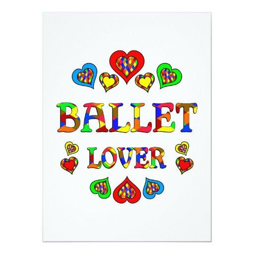 """Amante del ballet invitación 5.5"""" x 7.5"""""""