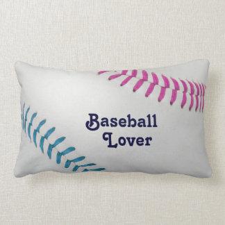 Amante del _Baseball de Baseball_Color Laces_fu_tl Almohada