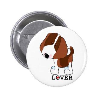 Amante del beagle pin redondo de 2 pulgadas