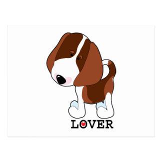 Amante del beagle postal