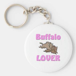Amante del búfalo llavero redondo tipo pin