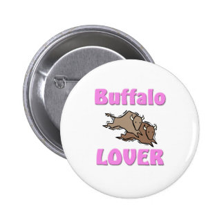 Amante del búfalo pin redondo de 2 pulgadas
