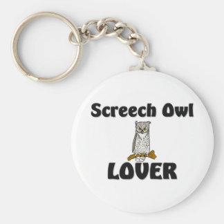 Amante del búho de chillido llavero personalizado