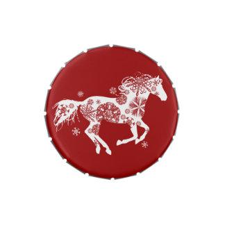 Amante del caballo del navidad