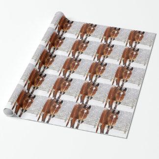 Amante del caballo del navidad papel de regalo