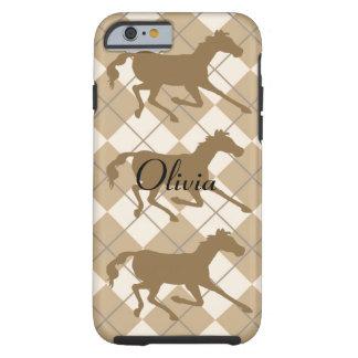 amante del caballo funda de iPhone 6 tough