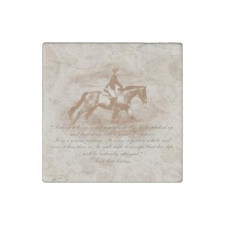 Amante del caballo imán de piedra