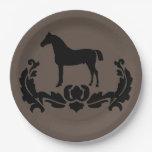 Amante del caballo plato de papel 22,86 cm