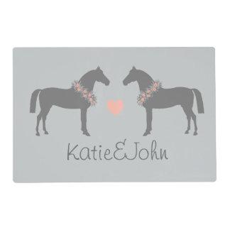 Amante del caballo tapete individual