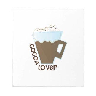 Amante del cacao blocs de notas
