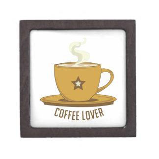 Amante del café cajas de recuerdo de calidad