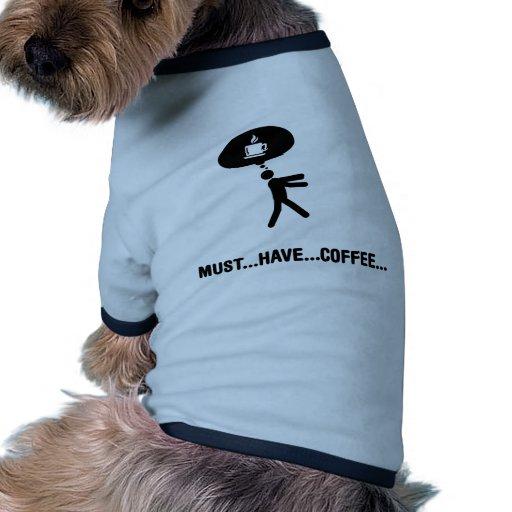Amante del café camisetas mascota