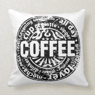 Amante del café almohadas