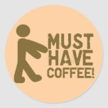 Amante del café etiqueta redonda