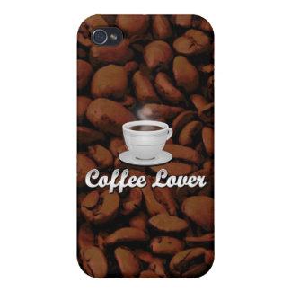 Amante del café, habas blancas de la taza/Brown iPhone 4/4S Funda