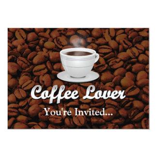 Amante del café, habas blancas de la taza/Brown Anuncios