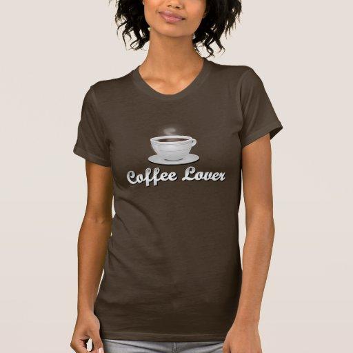 Amante del café, habas blancas de la taza/Brown Playera