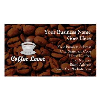 Amante del café, habas blancas de la taza/Brown Plantilla De Tarjeta Personal