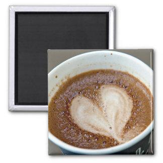 Amante del café imán cuadrado