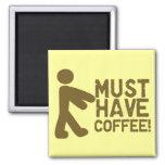 Amante del café iman para frigorífico