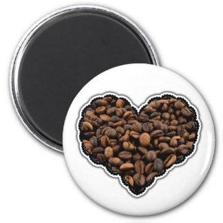 Amante del café imán redondo 5 cm