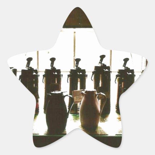 Amante del café colcomanias forma de estrella personalizadas