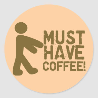 Amante del café pegatina redonda