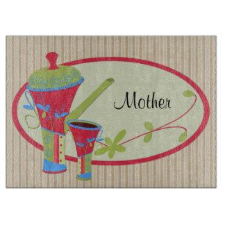 Amante del café - personalizado de la mamá tabla para cortar