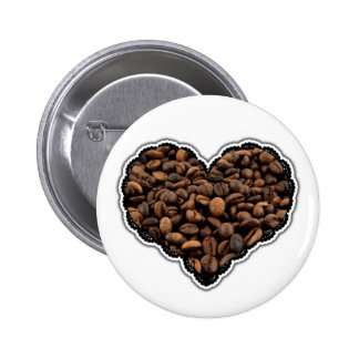 Amante del café pin redondo 5 cm