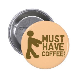 Amante del café pin redondo de 2 pulgadas