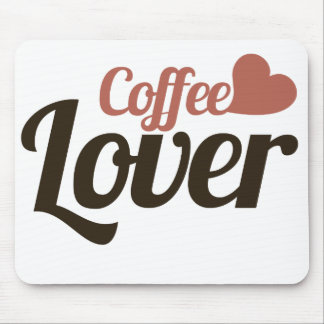 Amante del café tapetes de ratón