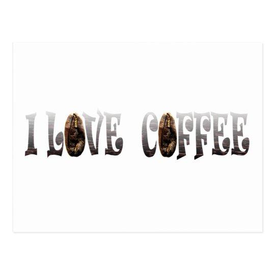 Amante del café tarjetas postales