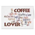 Amante del café tarjetón