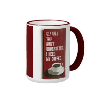Amante del café tazas de café