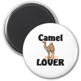 Amante del camello imán redondo 5 cm