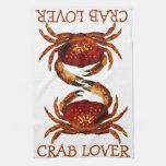 Amante del cangrejo toallas